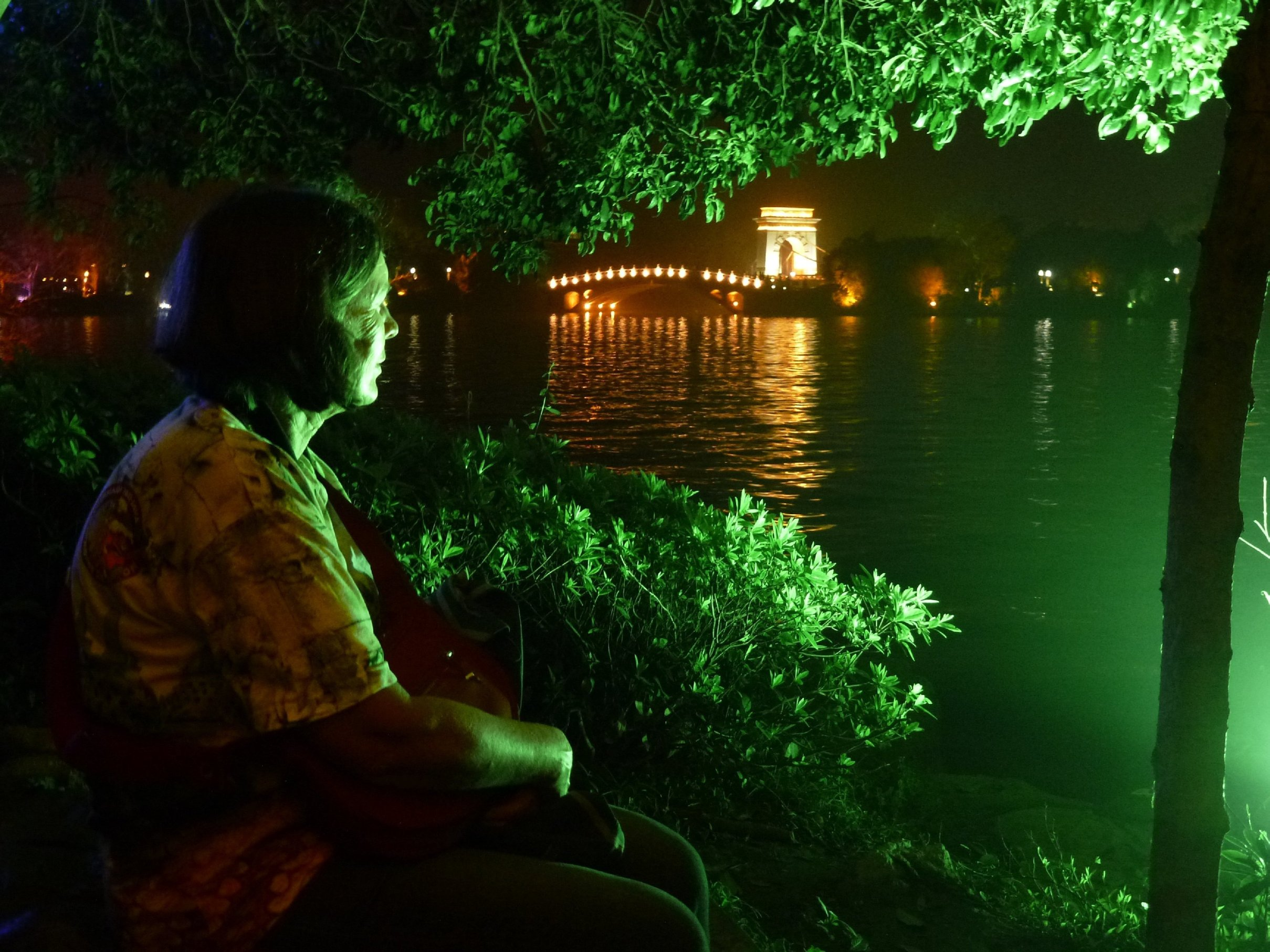 Guilin water system by night