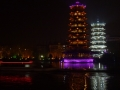 Guilin water system by night - Pagodas